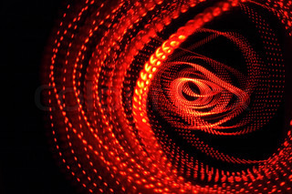 red abstract background from the red lights
