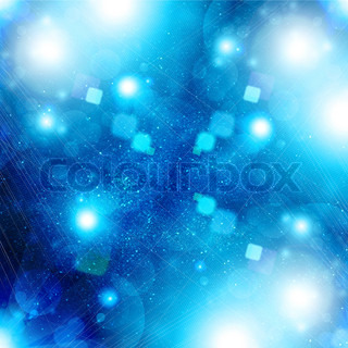 glowing background with light spots and stars