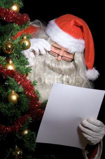 Santa Claus read letter