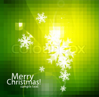 Vector holiday abstract backgrounds with white snowflakes