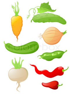 Set vectorglossy vegetable icons