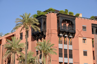 Modern residential building in the city of Marrakech
