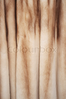 The texture of the fur fluffy women's coats, close-up