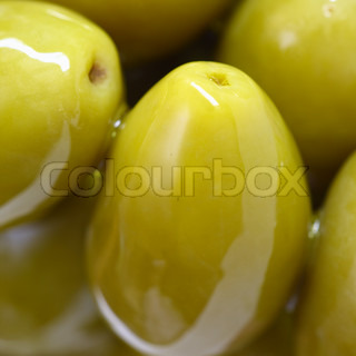olive product on whtie background