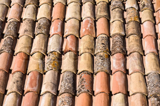 weathered roof tile background