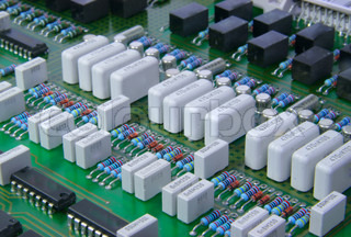 The printed circuit - board with radio components