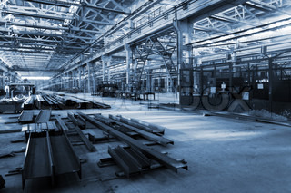 great new shop in modern metalworking plant