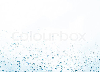 blue water drops on the white background