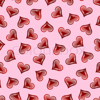 Valentine's heart repeating seamless pattern