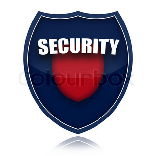 Security Shield isolated on white background