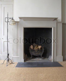Fireplace and hearth can be used as background
