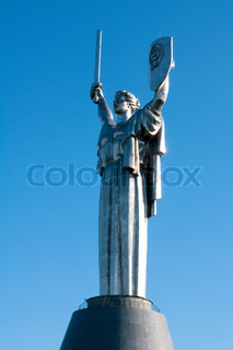 Statue of the Motherland, in Kiev, Ukraine This statue was built in remembrance of the victory over the Nazi's