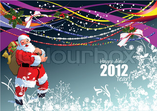 Greeting card for Merry Christmas or Happy New Year