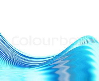 abstract water wave on a white background