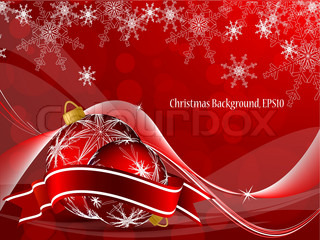 elegant vector background with snowflakes and decoration
