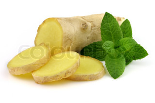 Ginger root with peppermint