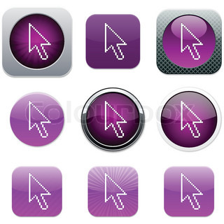 Pixel arrow Set of apps icons Vector illustration