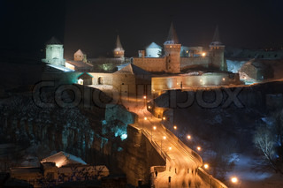 Castle at the Kamyanets-Podilsky town in the western of Ukraine