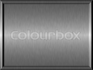 Shiny brushed framed metal plate abstract background