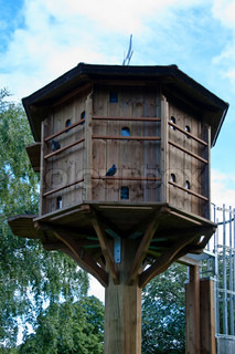 Huge Dovecote With Ladder That Is Used To Birth Control