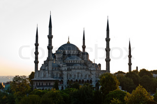 The famous Blue Mosque of Istanbul, Turkey