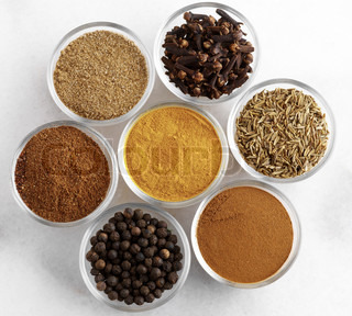 Various of spices