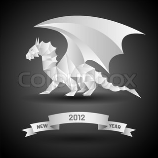 Dragon with banner New Year 2012