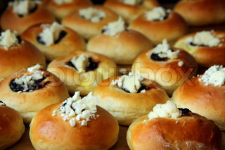 sweet czech cakes as very nice food background