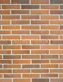 Red brick clean seamless wall