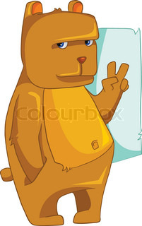 Cartoon Character Bear Isolated on White Background. Vector.