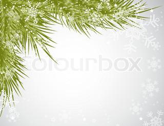 Christmas tree background, vector snowflake illustration