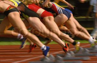 Løbere på startlinien selektiv fokusering på første løber