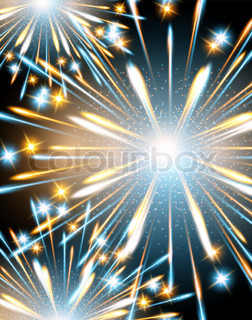 Fireworks explosion background glow blue