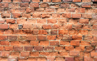 red brick wall background from the old house
