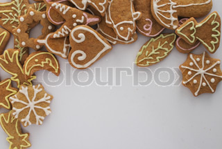 traditional christmas handmade cookies from czech republic