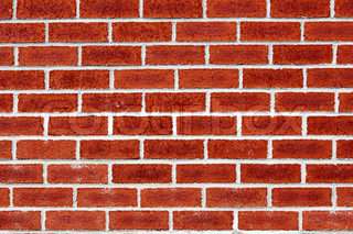brick wall - periodic whites line on red brick