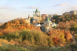 View on St.Andrew's Descent and St.Andrew's Church, Kiev.