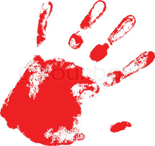 the red vector hand print