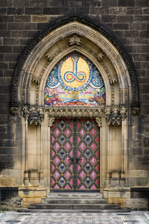 Paris detail of gate of saint denis first gothic for Door z prague
