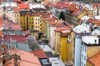 Bird-view on typical prague streets