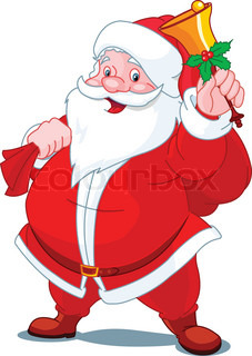 Santa Claus with sack of gifts,