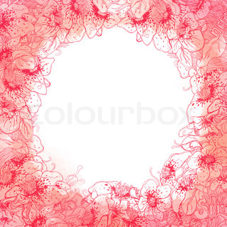 Background with three pink roses