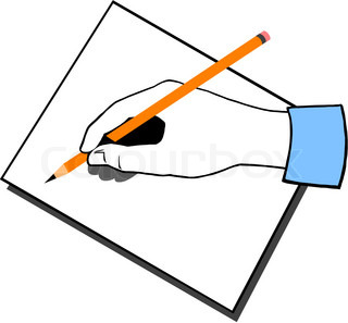 Vector of 'hand, storyboard, vector'