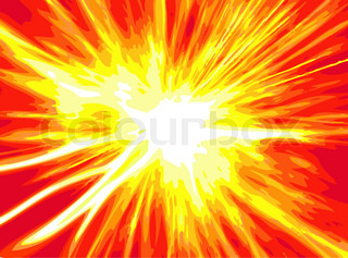 orange explosion background generated by the computer