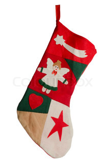 Christmas red stocking Concept of christmas or holiday