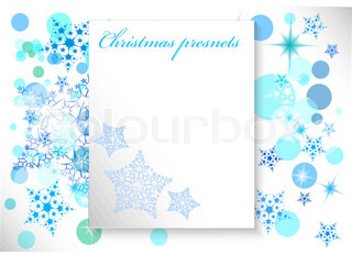 christmas background with snowflakes in teh white and blue colors