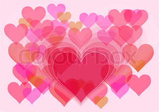 valentine background with hearts on the pink background
