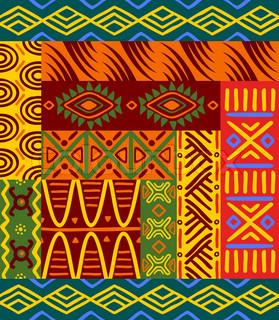 Abstrakte ethnische Muster und Ornamente für Design