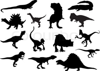 vector - set dinosaurs isolated on background