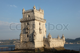 ber hmte festung torre de belem in lissabon portugal. Black Bedroom Furniture Sets. Home Design Ideas